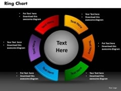 Business Circle Charts PowerPoint Templates Leadership Ring Chart Ppt Slides