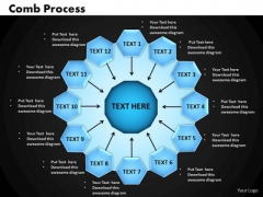 Business Circle Charts PowerPoint Templates Process Comb Process Ppt Slides
