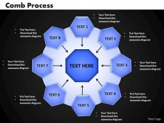 Business Circle Charts PowerPoint Templates Strategy Comb Process Ppt Slides