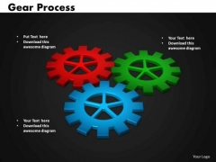 Business Circle Charts PowerPoint Templates Success Gears Process Ppt Slides