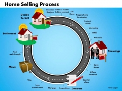 Business Circular Chart PowerPoint Templates Editable Home Selling Process Ppt Slides