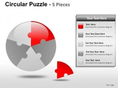 Business Circular Puzzle 5 Pieces PowerPoint Slides And Ppt Diagram Templates