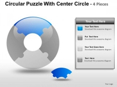 Business Circular Puzzle With Circle 4 PowerPoint Slides And Ppt Diagram Templates