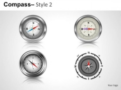 Business Compass 2 PowerPoint Slides And Ppt Diagram Templates