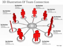 Business Concepts 3d Illustration Of Team Connection Statement