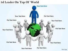 Business Concepts 3d Leader Top Of World Characters