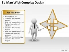 Business Concepts 3d Man With Complex Design Character