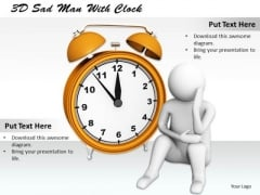 Business Concepts 3d Sad Man With Clock