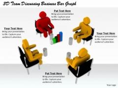 Business Concepts 3d Team Discussing Bar Graph