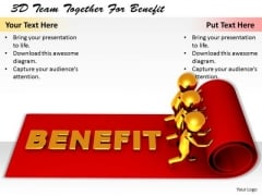 Business Concepts 3d Team Together For Benefit Statement