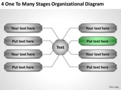 Business Concepts 4 One To Many Stages Organizational Diagram Strategy Process