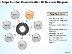 Business Concepts 7 Steps Circular Demonstration Of Diagram PowerPoint
