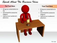 Business Concepts Speak About The Ideas Statement