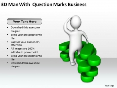 Business Context Diagram 3d Man With Question Marks PowerPoint Templates