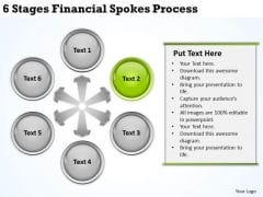 Business Context Diagram 6 Stages Financial Spokes Process Ppt PowerPoint Slides