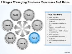 Business Context Diagrams 7 Stages Managing Processes And Roles Ppt PowerPoint Slides
