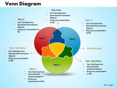 Business Cycle Process PowerPoint Templates Business Venn Diagram Circular Puzzle Process Ppt Slides