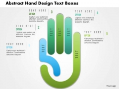 Business Daigram Abstract Hand Design Text Boxes Presentation Templets