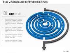 Business Diagram Blue Colored Maze For Problem Solving PowerPoint Templets