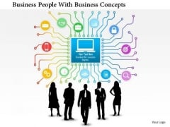 Business Daigram Business People With Business Concepts Presentation Templets