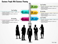 Business Daigram Business People With Business Planning Presentation Templets