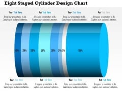 Business Daigram Eight Staged Cylinder Design Chart Presentation Templets