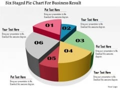 Business Daigram Six Staged Pie Chart For Business Result Presentation Templets