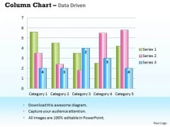 Business Data Analysis Chart For Case Studies PowerPoint Templates