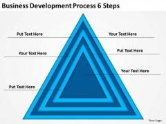 Business Development Process 6 Steps Simple Plan Example PowerPoint Templates