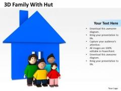 Business Development Process Diagram 3d Family With Hut PowerPoint Slides