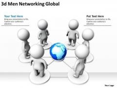 Business Development Process Diagram 3d Networking Global PowerPoint Templates
