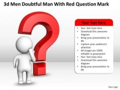 Business Development Process Diagram Doubtful Man With Red Question Mark PowerPoint Templates