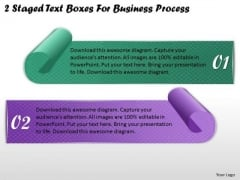 Business Development Strategy 2 Staged Text Boxes For Process Strategic Planning Templates