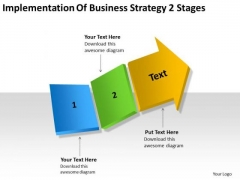 Business Development Strategy 2 Stages Examples Plan Outline PowerPoint Templates