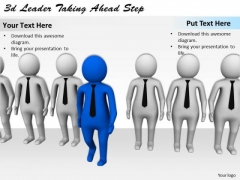 Business Development Strategy 3d Leader Taking Ahead Step Basic Concepts