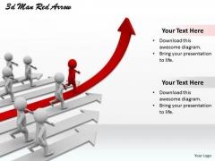 Business Development Strategy 3d Man Red Arrow Concept