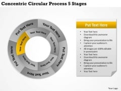 Business Development Strategy Circular Process 5 Stages Corporate