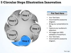 Business Development Strategy Circular Steps Illustration Innovation Growth