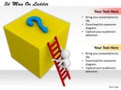 Business Development Strategy Template 3d Man On Ladder Characters
