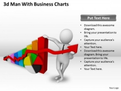 Business Development Strategy Template 3d Man With Charts Characters