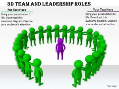 Business Development Strategy Template 3d Team And Leadership Roles Basic Concepts