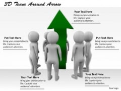 Business Development Strategy Template 3d Team Around Arrow Basic Concepts