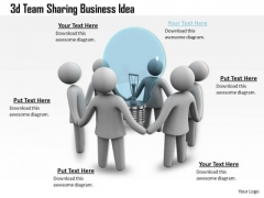 Business Development Strategy Template 3d Team Sharing Idea Characters