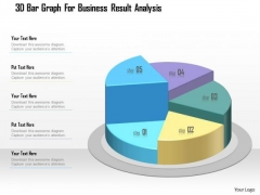 Business Diagram 3d Bar Graph For Business Result Analysis Presentation Template