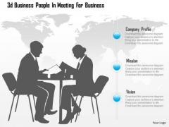 Business Diagram 3d Business People In Meeting For Business Presentation Template