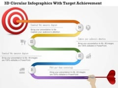 Business Diagram 3d Circular Infographics With Target Achievement PowerPoint Template