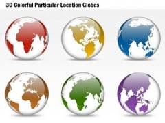 Business Diagram 3d Colorful Particular Location Globes Presentation Template