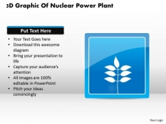 Business Diagram 3d Graphic Of Nuclear Power Plant Presentation Template