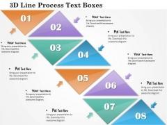 Business Diagram 3d Line Process Text Boxes Presentation Template
