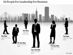 Business Diagram 3d People For Leadership For Business Presentation Template